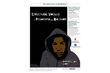 Symposium on Structural Violence in Philadelphia and Baltimore