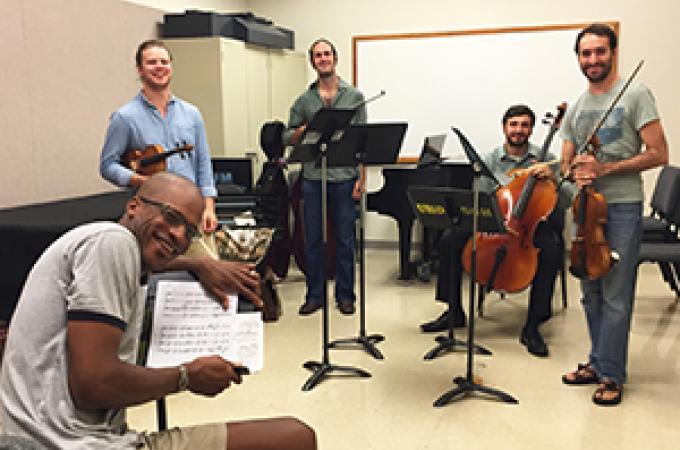invoke String Quartet and Joseph C. Phillips, Jr.